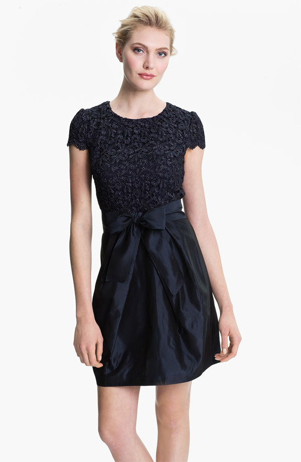 Suzi Chin for Maggy Boutique Lace & Taffeta Dress