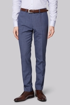 Moss Bros Skinny Fit Blue Speckled Pants