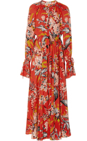 Diane von Furstenberg Cinched Waist Floral Dress