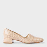 Paul Smith Women's Taupe Mock Croc Leather 'Tyne' Court Shoes