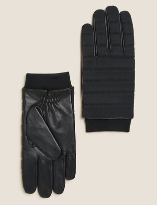 Marks and Spencer Leather Quilted Gloves