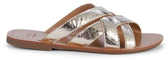 Marc Fisher Platino Leather Slides