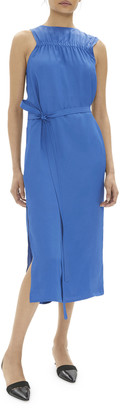 Helmut Lang Elasticized Sleeveless Midi Dress