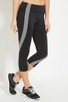 Forever 21 Active Striped Capri Leggings