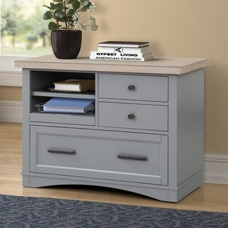 Mcallister Functional File 3-Drawer Lateral Filing Cabinet Longshore Tides Color: Light Gray/Natural