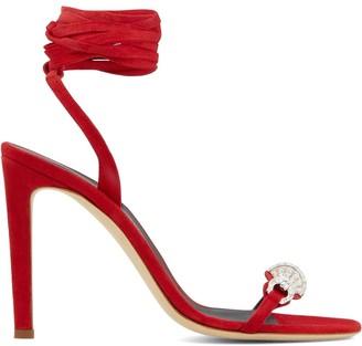 Giuseppe Zanotti Thais 105mm ankle-wrap sandals