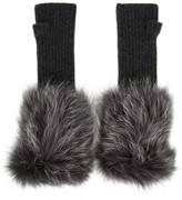 Hockley Frida Fur-trimmed Cashmere Fingerless Mittens