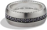 David Yurman Streamline Wide Band Ring with Black Diamonds