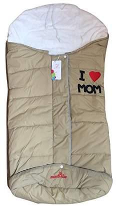 Baby Sleeping Bag Pushchair pram car seat Cosy Warm WRAP COT Blanket footmuff (Blue)