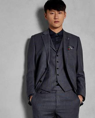 Ted Baker Sterling Check Wool Waistcoat