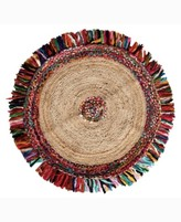 """Thumbnail for your product : Home Weavers Stormy Jute Braid Round Shape 36"""" x 36"""" Accent Rug Bedding"""
