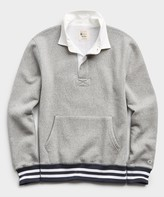 Todd Snyder + Champion Rugby Sweatshirt in Light Grey Mix