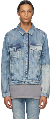 Ksubi Blue Denim Jinx Remix Classic Jacket