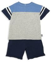 Splendid Baby's Two-Piece Football Tee & Shorts Set