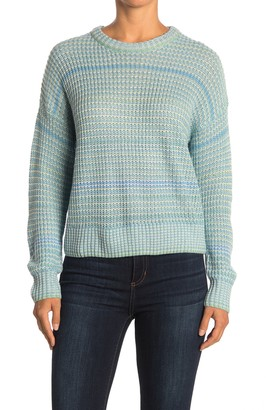 Lush Ribbed Knit Crew Neck Sweater