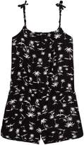 Molo Black Palm Trees Amberly Playsuit