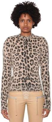 Unravel Leopard Wool Blend Knit Sweater
