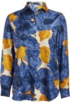 Etro Peony-Print Silk Blouse