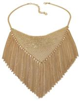 "RJ Graziano Fringe Forward"" Mesh Bib 20"" Necklace"