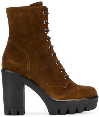 Giuseppe Zanotti Lace-Up Suede Boots