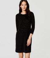 LOFT Speckled Two-In-One Sweater Dress