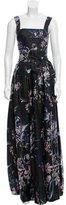 Christian Lacroix Silk Floral Print Dress