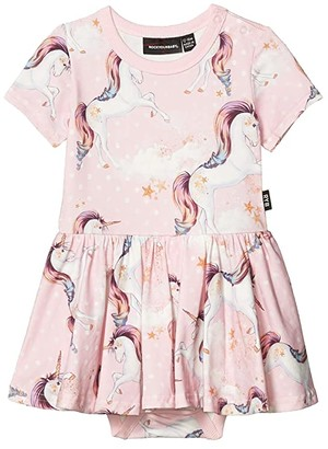 Rock Your Baby Stargazer Short Sleeve Waisted Dress (Infant) (Pink) Girl's Clothing