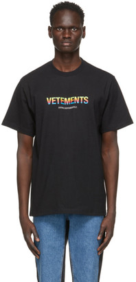 Vetements Black Think Differently T-Shirt