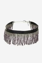 Topshop Tassel Bead Choker Necklace
