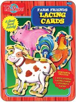 T.S. Shure Farm Friends Lacing Cards Activity Tin Game