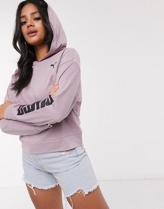 Puma lightweight hoodie in elderberry