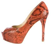 Brian Atwood Embossed Bambola Pumps