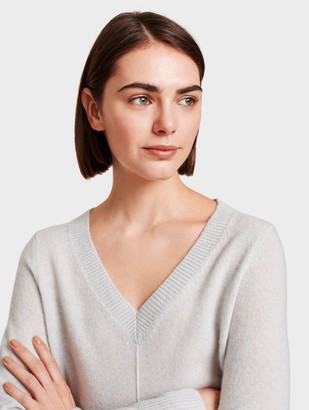 White + Warren Cashmere V Neck Tunic