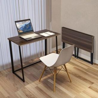 Inbox Zero Simpleness Home Office Desk Color (Top/Frame): Brown/Black