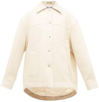 Acne Studios Ocilia Cotton Blend Jacket - Womens - Ivory