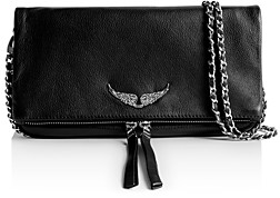 Zadig & Voltaire Rock Grained Leather Clutch