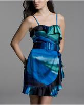 Silk Side-Ruffle Dress