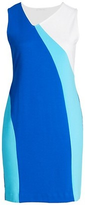 Joan Vass, Plus Size Colorblock Wave Dress