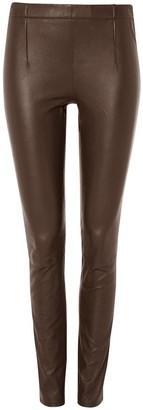 Baukjen Liv Leather Leggings In Dark Chocolate Brown