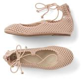 Gap Lace-up ballet flats