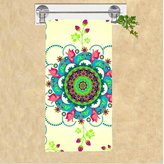 Bath Towels New Gift Novelty Flower Mandala Colorful Art Print 70x140cm Comfortable Fiber Bath Towel Beach Bathroom Shower Towels