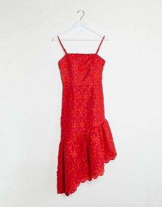 Talulah limousine midi dress in red