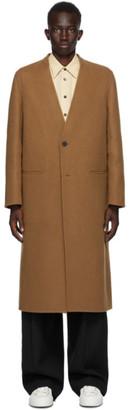 Jil Sander Brown Cashmere Coat
