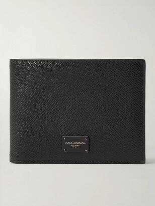 Dolce & Gabbana Logo-Appliqued Pebble-Grain Leather Bifold Wallet