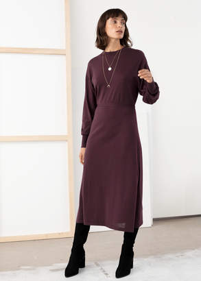 And other stories Side Slit Knitted Midi Dress