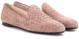 Bottega Veneta Intrecciato suede loafers