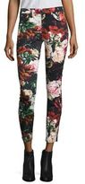 7 For All Mankind Floral Print Ankle Jeans