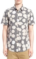 Volcom Men's 'Dripping Daisy' Trim Fit Short Sleeve Print Woven Shirt