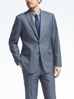 Banana Republic Standard Blue Plaid Wool Suit Jacket