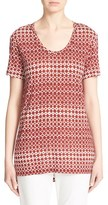 St. John Women's Embellished Abstract Diamond & Dot Print Top